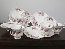 Royal Albert Lavender Rose fine English bone china 4-dessert plates cups