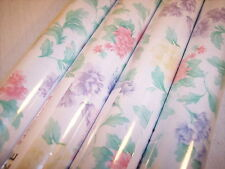Contact Paper Red Cabbage Rose Vintage Style Shelf Liner 1 Roll 3 ft 11in
