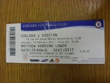 19/02/2011 Ticket: Chelsea v Everton [FA Cup Replay] (Folded). Thanks for viewin