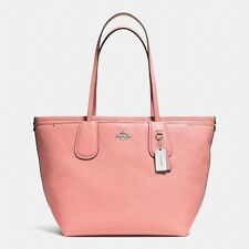 Coach Taxi Pink Crossgrain Leather Baby Diaper Bag Tote - 34522  ($495) New