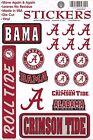 Alabama Crimson Tide Vinyl Die-Cut Sticker Decals