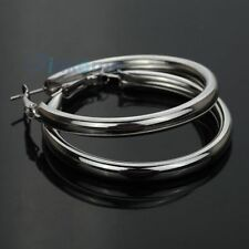 Silver plated thick tube big hoop snap Earring diameter 5inch 0411