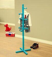 New Freestanding Children's wood Coat Rack Blue