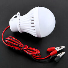 Outdoor 12V 5W LED Bulbs For Home Camping Solar Hunting W/Clip White Light