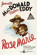 ROSE MARIE Movie POSTER 27x40 B Jeanette MacDonald Nelson Eddy James Stewart