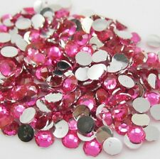 Diy 800pcs 4mm Facets Resin Rhinestone Gems Flat Back Crystal beads Pink art ZY1