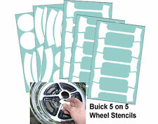 BUICK RALLY WHEEL PAINT Mask STENCIL Kit 5 on 5 Full Size Wheels