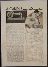 Flame Ignition Horizontal Atmospheric Gas Engine vintage 1936 How-To build PLANS