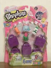 Shopkins NIP 5-Pack Mini Figures with 5 shopping bags and 1 collector's guide
