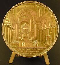 Médaille intérieur & plan de l' Église Saint-Pierre-de-Montrouge 1870 75mm medal