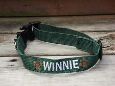 Medium Dog Collar, Personalized, Embroidered with name, Unisex, Adjustable, M