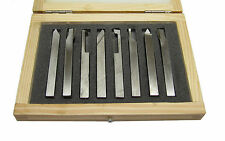 RDGTOOLS HSS 8PC TURNING FACING THREADING TOOL SET 8MM SHANK MYFORD