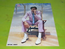 ROXY MUSIC - BRIAN FERRY- VINTAGE FRENCH PROMO BIO/POSTER FROM THE 80'S!!!!!!!!!