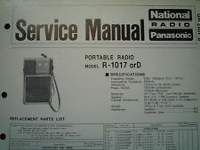 NATIONAL PANASONIC R-1017 R-1017D Radio Service manual wiring parts diagram
