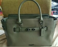 Coach Surplus Olive Green Bubble Leather Blake Carryall Handbag F35689 MSRP $550