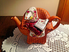 Royal Albert Old Country Roses Cardew Vtg Teapot Chair w Bowl Tablecloth Book