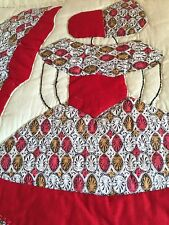 GORGEOUS Vintage Colonial Lady Quilt ~Stunning FABRICS used for their Dresses!