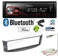 Pioneer MVH-X380BT autoradio USB / bluetooth + Kit montaggio per Smart ForTwo gr
