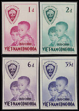 VIETNAM du SUD N°61/64** Non dentelés Enfants 1956 South VietNam 59-62 Imperf NH