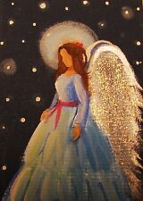 ACEO Original Angel Painting Spiritual Inspirational Healing Energy CCArtist