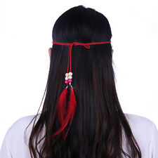 1pc Indian Gothic Hippie Rooster Feather Tassels Headband Festival Hair band