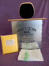 JIMMY'S THUNDERBOX  CAMP TOILET  BLACK MDF SEAT WITH 12 IN-VIRO BAGS