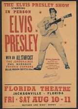 Elvis Presley Concert Flyer Reprint On Original 1950s Paper Autograph Reprint