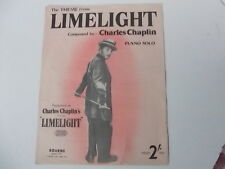 "Sheet music - Charles Chaplin ""Limelight"""