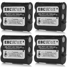 4pcs 3.6V 1500mAh Cordless Phone Battery For Panasonic P-P511 P511 PP511 TYPE 24