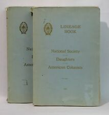 Lineage Book, National Society of the Daughters of the American Colonists