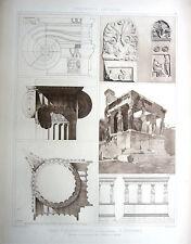 14 ~ ERECHTHEUM TEMPLE ATHENS 1905 CLASSICAL GREEK Architecture DESIGN Art Print