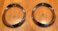 1955 CHEVY HEAD LIGHT LAMP CHROME BEZELS new pair Made in USA