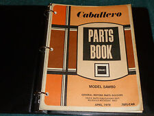 gmc caballero manuals literature new listing 1978 gmc caballero parts catalog original parts book