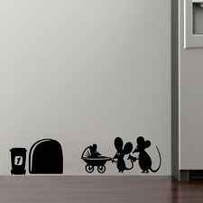 Family Baby Mouse Hole Wall Stickers For Kids Rooms Decals Vinyl Wall Art