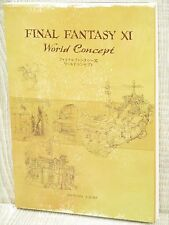 FINAL FANTASY XI 11 World Concept w/DVD Guide Art Book SH52*