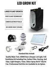 LED Grow Tent Kit, Indoor Led Grow system, Basic Led kit, Tent, Fans, Filter etc