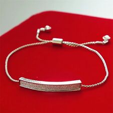 Fashion Cz Micro Pave Silver Plated Diamante Crystal CZ/Crystal Bracelet/Bangle