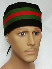 SURGICAL SCRUB HAT THEATRE CAP DESIGNER STRIPES OR PICK STRIPE COLOR W SWEATBAND