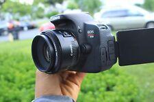 MINT Canon EOS Rebel T5i / 700D 18.0 MP SLR With 50mm F/1.8 IS II Lens.