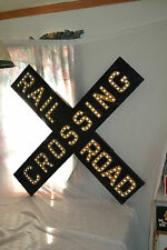 Antique Cast Iron metal Railroad Crossing sign Glass Cats eye Marbles Movie prop