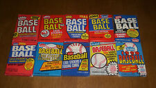 10 FLEER BASEBALL UNOPENED WAX PACKS 1981 1982 1983 1984 1985 1986 1987 1988 etc