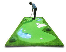 G101 Artificial Indoor Outdoor 5 Hole Golf Putting Green Practice Mat