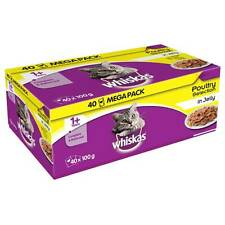 Whiskas 1+ Years Cat Pouches Poultry Selection in Jelly 40 x 100g
