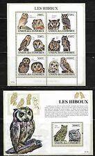 Comoro Islands 1087-88 Owls Mint NH