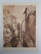 Print Blackfriars Canterbury Kent by Aubrey Waterfield 1947