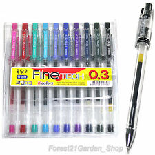 Dong-A Fine Tech 0.3mm Gel ink Rollerball pen 10 Colors Set for office School