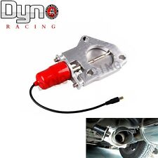 "DYNO 3"" 76mm Electric Exhaust Catback Downpipe Cutout E-Cut Out Valve Motor Red"