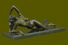 Bronze Art Sculpture Signed Original Mavchi Nude Naked Laying  Statue Figure LRG
