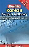 Korean Compact Dictionary by APA Publications Staff (2011, Paperback)