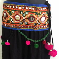 Tribal Banjara BOHO tassel Belly Dance textile costume waist belt hip scarf ATS